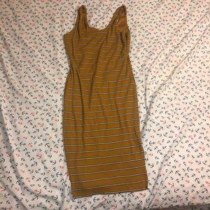 yellow/ orange stripped dress